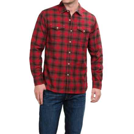 True Grit Rock Point Plaid Shirt - Long Sleeve (For Men) in Barn Red - Closeouts