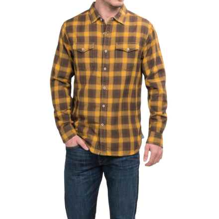 True Grit Rock Point Plaid Shirt - Long Sleeve (For Men) in Maize - Closeouts