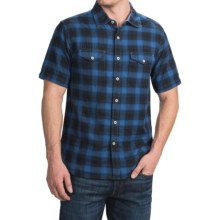 True Grit Rock Point Plaid Shirt - Short Sleeve (For Men) in Marine Blue - Closeouts