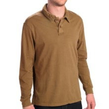 True Grit Rope Braid Polo Shirt - Long Sleeve (For Men) in Old Gold - Closeouts