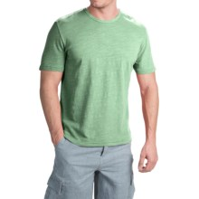 True Grit Royal Slub Shirt - Crew Neck, Short Sleeve (For Men) in Limelight - Closeouts