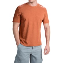 True Grit Royal Slub Shirt - Crew Neck, Short Sleeve (For Men) in Papaya - Closeouts