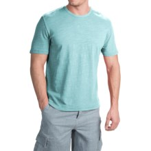 True Grit Royal Slub Shirt - Crew Neck, Short Sleeve (For Men) in Soft Blue - Closeouts