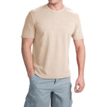 True Grit Royal Slub Shirt - Crew Neck, Short Sleeve (For Men) in Vintage Natural - Closeouts