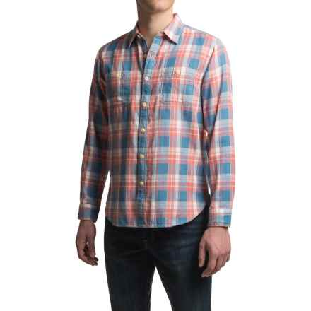 True Grit Santa Barbara Double Light Indigo Shirt- Long Sleeve (For Men) in Blue - Closeouts
