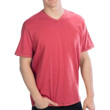 True Grit Secret Wash V-Neck T-Shirt - Cotton Jersey, Short Sleeve (For Men) in Vintage Red - Closeouts