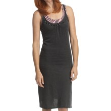 True Grit Sequin & Stones Tank Dress - Slub Jersey, Sleeveless (For Women) in Black - Closeouts