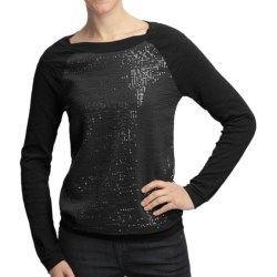 True Grit Sequin-Knit Pullover Shirt - Long Raglan Sleeve (For Women) in Chalk
