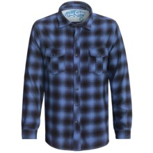 True Grit Shadow Plaid Shirt - Long Sleeve (For Men) in Blue/Black - Closeouts