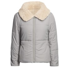 True Grit Shawl Collar Jacket - Sherpa Lining (For Women) in Heathered Grey - Closeouts