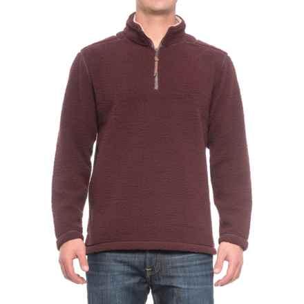 True Grit Sherpa Fleece Shirt - Zip Neck, Long Sleeve (For Men) in Merlot - Closeouts