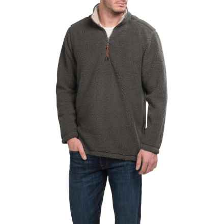 True Grit Sherpa Fleece Shirt - Zip Neck, Long Sleeve (For Men) in Vintage Black - Closeouts