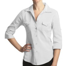 True Grit Shimmer Shirt - 3/4 Sleeve (For Women) in White - Closeouts