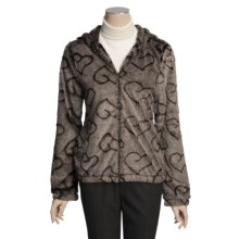 True Grit Silky Fur Crush Jacket - Lined, Hooded (For Women) in Brown - Closeouts