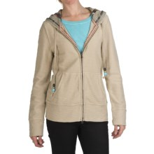 True Grit Slub Fleece Baja Hoodie Sweatshirt - Full Zip (For Women) in Driftwood - Closeouts