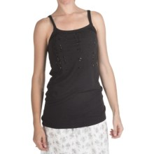 True Grit Slub Jersey Sequin & Stones Tank Top (For Women) in Black - Closeouts