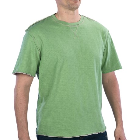 True Grit Slub Jersey T-Shirt - Crew Neck, Short Sleeve (For Men) in Limelite