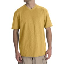 True Grit Slub Jersey T-Shirt - V-Neck (For Men) in College Yellow - Closeouts