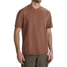 True Grit Slub Jersey T-Shirt - V-Neck (For Men) in Rust - Closeouts