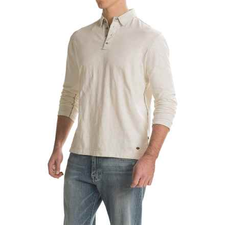True Grit Slub Jersey Vintage Polo Shirt - Long Sleeve (For Men) in Vintage Chalk - Closeouts