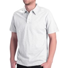 True Grit Slub Polo Shirt - Short Sleeve (For Men) in White - Closeouts