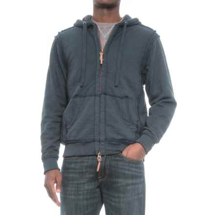 True Grit Slub Sherpa-Lined Hoodie - Full Zip (For Men) in Midnight Blue - Closeouts