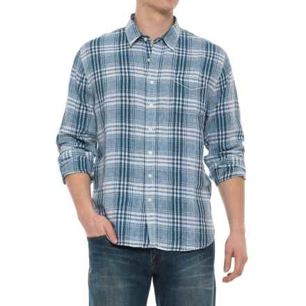 True Grit Small Plaids Shirt - Long Sleeve (For Men) in Denim - Closeouts