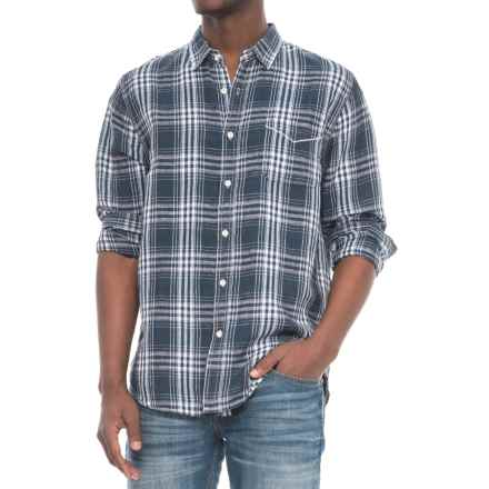 True Grit Small Plaids Shirt - Long Sleeve (For Men) in Indigo - Closeouts
