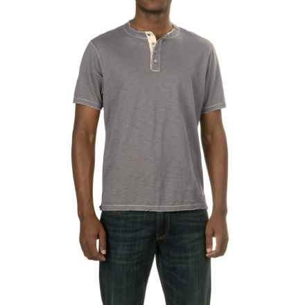 True Grit Soft Slub Henley Shirt - Short Sleeve (For Men) in Vintage Grey - Closeouts