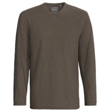 True Grit Soft Slub Jersey Shirt - V-Neck, Long Sleeve (For Men) in Shade - Closeouts