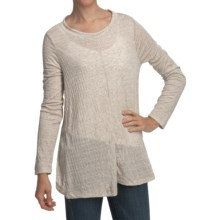 True Grit Soft Slub Pucker Tunic Shirt - Long Sleeve (For Women) in Oatmeal - Closeouts