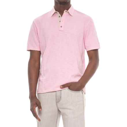 True Grit Soft Slub Vintage Polo Shirt - Short Sleeve (For Men) in Pink - Closeouts