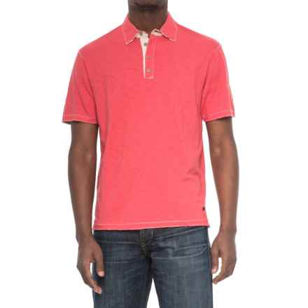 True Grit Soft Slub Vintage Polo Shirt - Short Sleeve (For Men) in Red - Closeouts