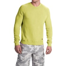 True Grit Soft Terry Sweatshirt - Crew Neck (For Men) in Citron - Closeouts