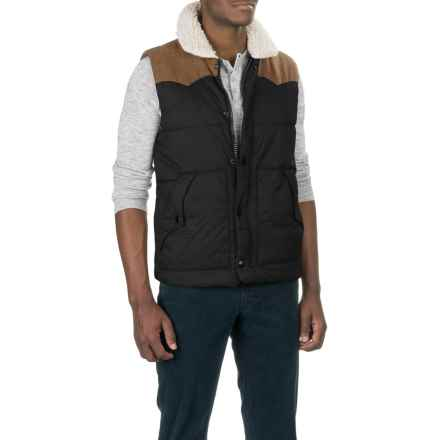 True Grit Solid Puffer Vest - Insulated (For Men) in Black - Closeouts