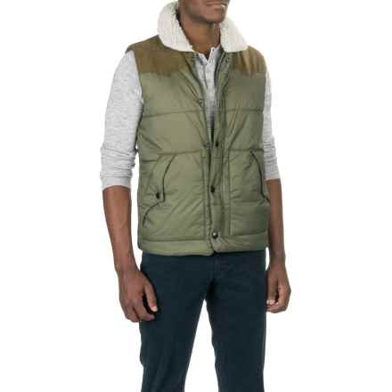 True Grit Solid Puffer Vest - Insulated (For Men) in Olive - Closeouts