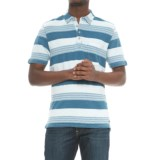 True Grit Stacked Stripe Polo Shirt - Short Sleeve (For Men)