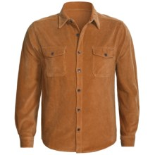 True Grit Stretch Cord Shirt - Long Sleeve (For Men) in Burnt Orange - Closeouts