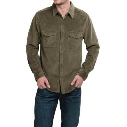 True Grit Stretch Corduroy Shirt - Long Sleeve (For Men) in Olive - Closeouts