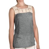 True Grit Sublime Slub Crochet T-Shirt - Sleeveless (For Women)
