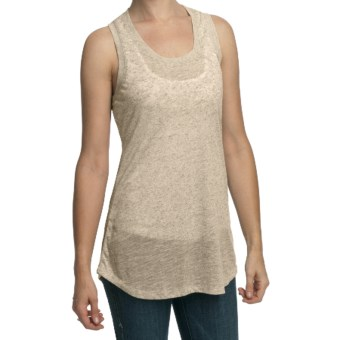 True Grit Sublime Slub Tank Top - Racerback (For Women) in Natural