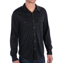 True Grit Sueded Check Shirt - Button Front, Long Sleeve (For Men) in Blue - Closeouts