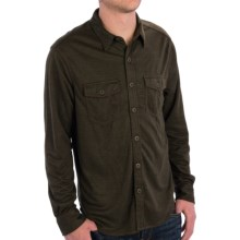 True Grit Sueded Check Shirt - Button Front, Long Sleeve (For Men) in Green - Closeouts