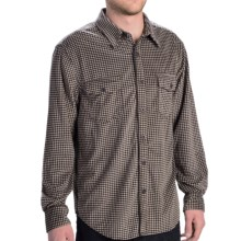 True Grit Sueded Checks Shirt - Long Sleeve (For Men) in Black/White Check - Closeouts