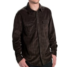 True Grit Sueded Checks Shirt - Long Sleeve (For Men) in Brown Plaid - Closeouts