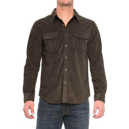 True Grit Sueded Corduroy Shirt - Long Sleeve (For Men) in Brown - Closeouts