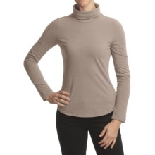 True Grit Sueded Jersey Turtleneck - Long Sleeve (For Women) in Flannel - Closeouts