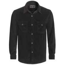 True Grit Sueded Plaid Shirt - Long Sleeve (For Men) in Charcoal - Closeouts
