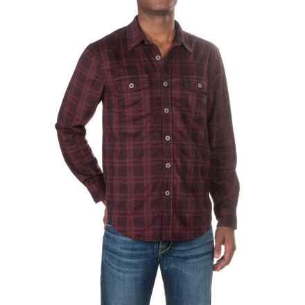True Grit Sueded Shirt - Long Sleeve (For Men) in Wine - Closeouts