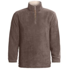 True Grit Sueded Soft Sherpa Pullover Shirt - Zip Neck (For Men) in Grey - Closeouts